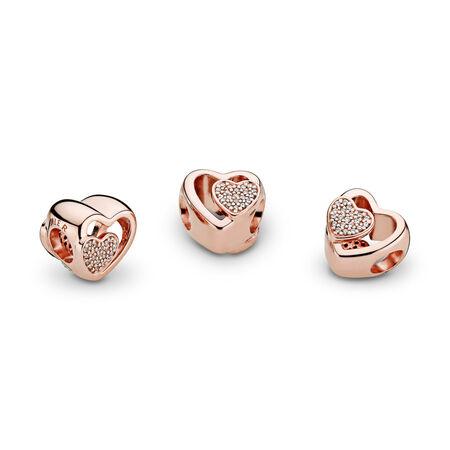 Joined Together, PANDORA Rose™ & Clear CZ, PANDORA Rose, Cubic Zirconia - PANDORA - #781806CZ