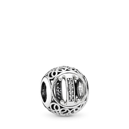 Vintage I, Clear CZ, Sterling silver, Cubic Zirconia - PANDORA - #791853CZ