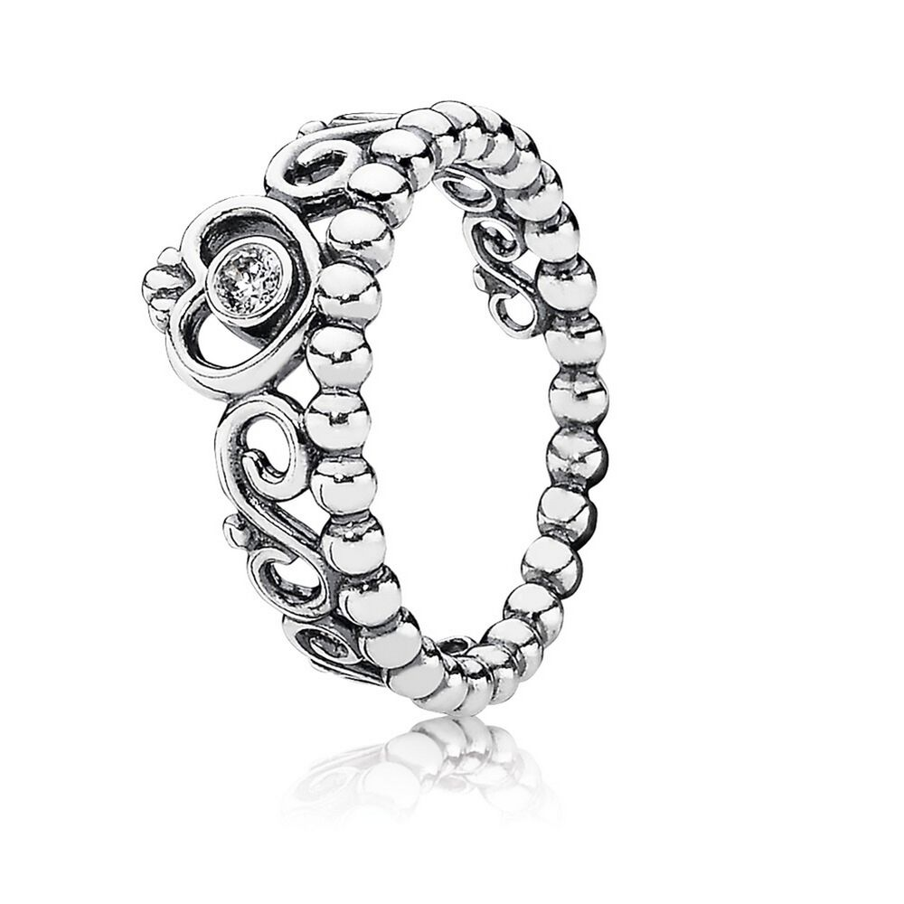 hvs evening beaded h tw diamond ring i vs silver star pandora