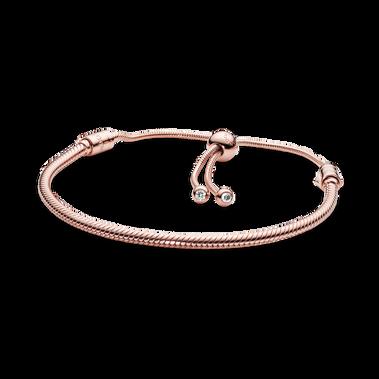 Bracelet coulissant à chaîne serpentine Pandora Moments