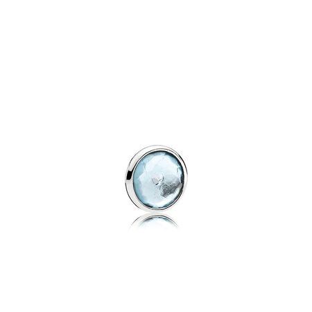 March Droplet Petite, Aqua Blue Crystal