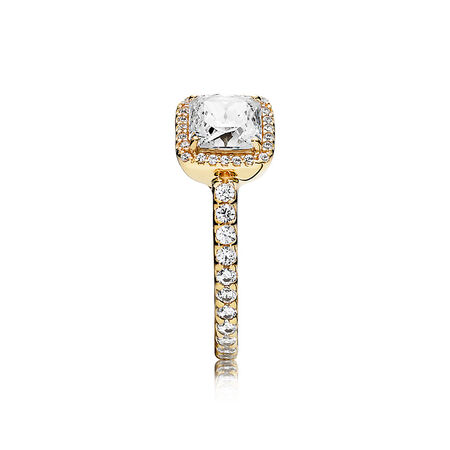 Timeless Elegance, 14K Gold & Clear CZ