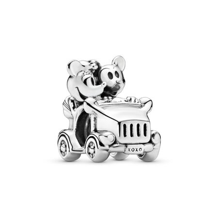 Disney, Minnie Mouse & Mickey Mouse Car Charm, Sterling silver - PANDORA - #797174