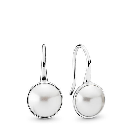 Luminous Droplets, White Crystal Pearl, Sterling silver, White, 68 - PANDORA - #290746WCP