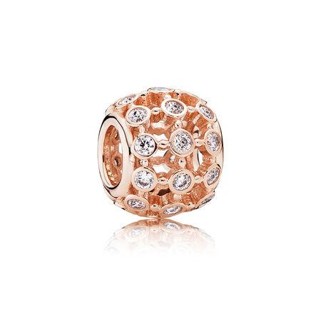 En vedette, PANDORA Rose, cz incolore, PANDORA ROSE, Aucun autre matériel, Aucune couleur, Zircon cubique - PANDORA - #780825CZ