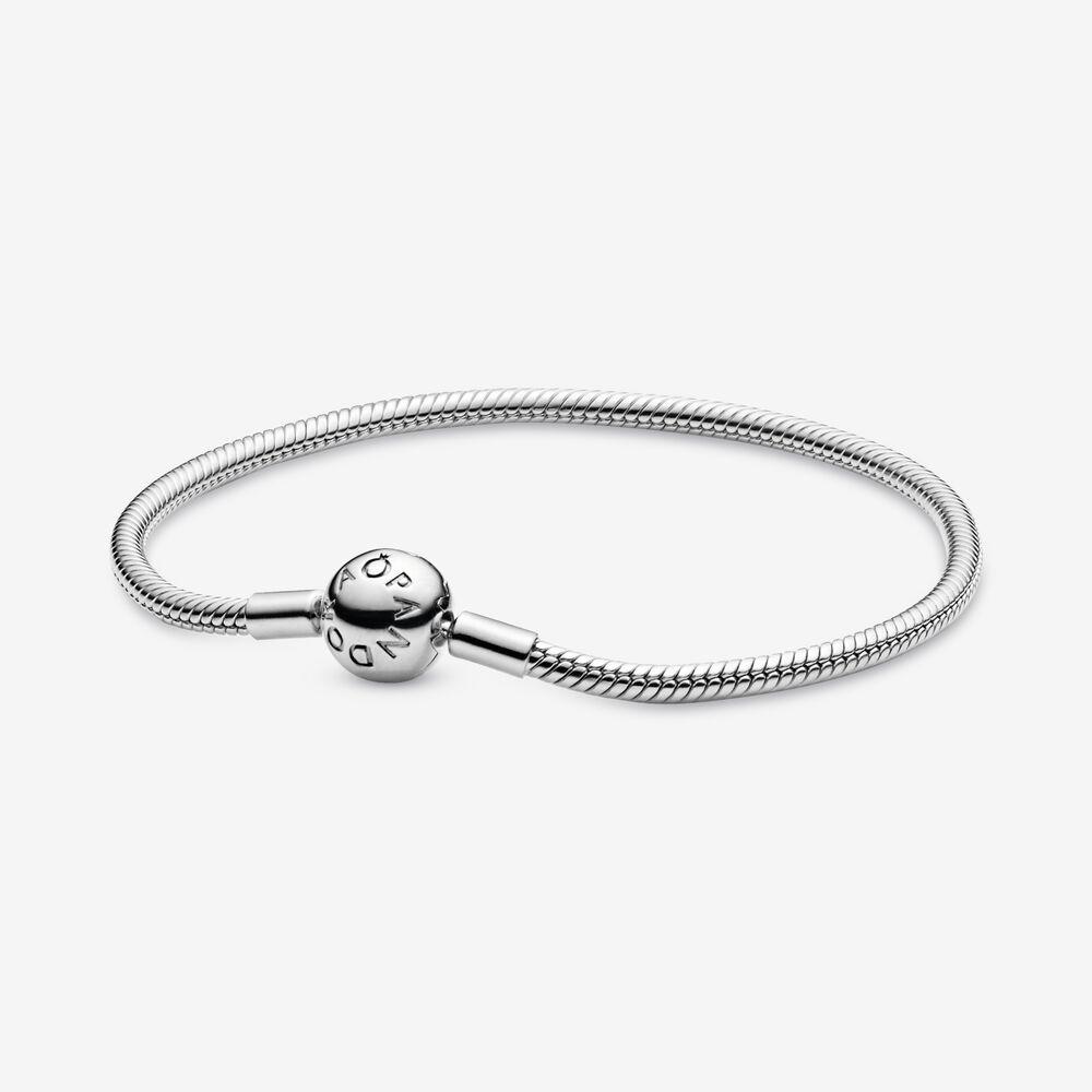 Smooth Sterling Silver Clasp Bracelet | Sterling silver | Pandora ...