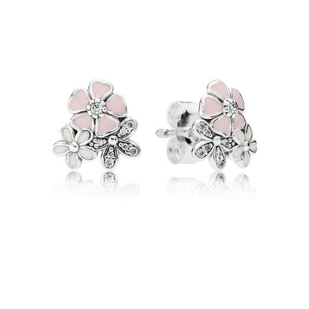 Poetic Blooms, Mixed Enamels & Clear CZ