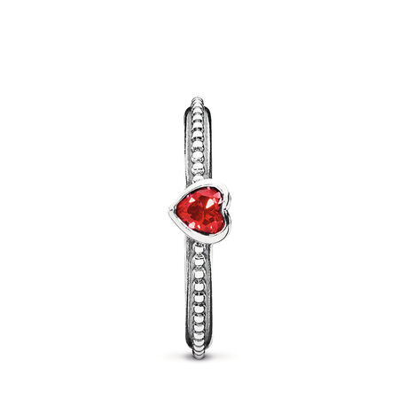 Mon seul amour, rubis synthétique rouge doré, Argent sterling, Aucun autre matériel, Rouge, Rubis synthétique - PANDORA - #190896SGR