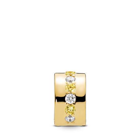 Shining Path Clip, PANDORA Shine™ & Yellow & Clear CZ