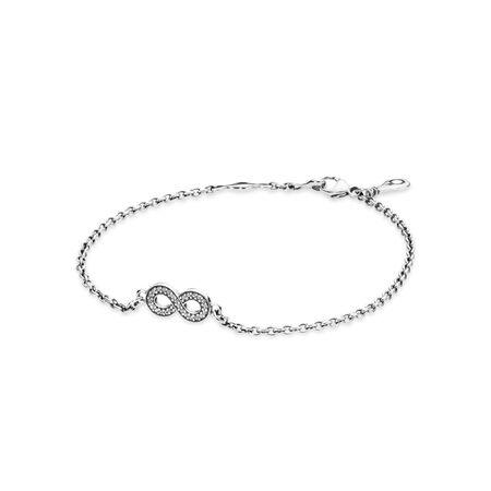 Symbole d'infini, cz incolore, Argent sterling, Aucun autre matériel, Aucune couleur, Zircon cubique - PANDORA - #590509CZ