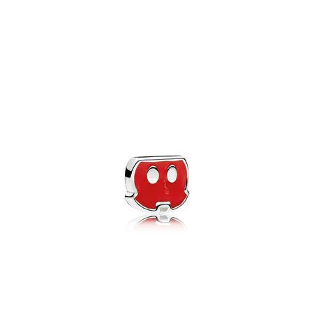 Disney, Mickey Trousers Petite Charm, Red Enamel