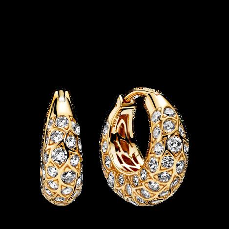 Sparkling Pattern Hoop Earrings