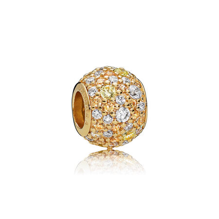 Golden Mix Pavé Charm, PANDORA Shine™ & Multi-coloured CZ