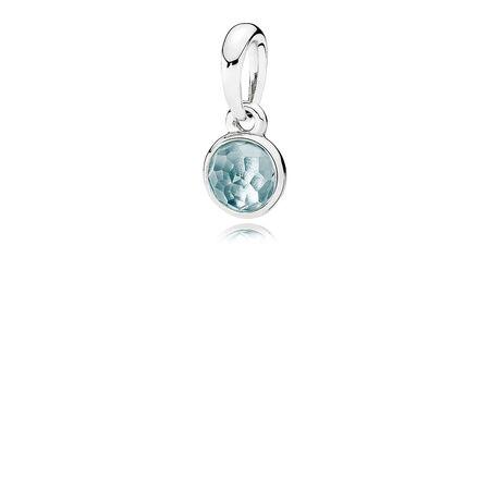 Gouttelette de mars, cristal bleu marine