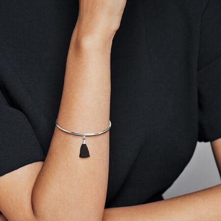 Charm pendentif pampille de tissu noire en édition limitée