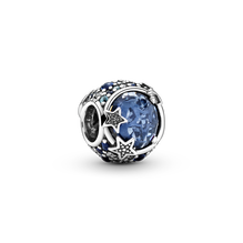 Celestial Blue Sparkling Stars Charm