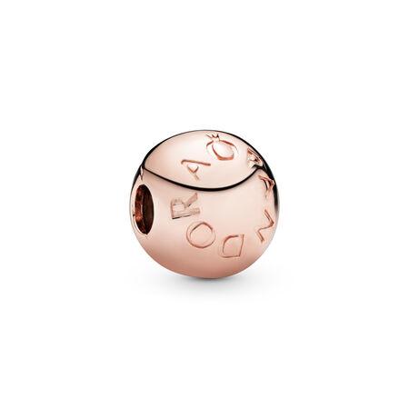 Loving PANDORA Logo Charm Clip, PANDORA Rose™, PANDORA Rose - PANDORA - #781015