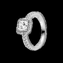 Square Sparkle Halo Ring