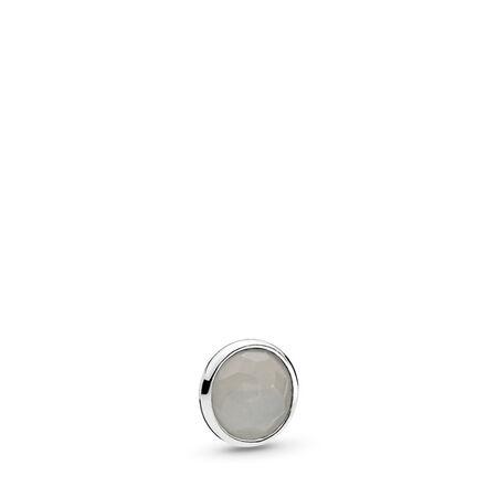 June Droplet Petite, Grey Moonstone, Sterling silver, Moonstone - PANDORA - #792175MSG