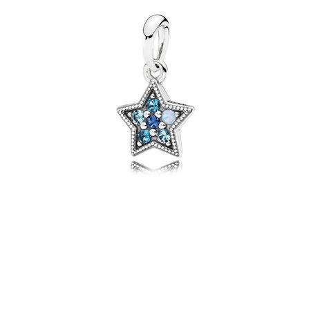 Bright Star Dangle Charm, Multi-Colored Crystals