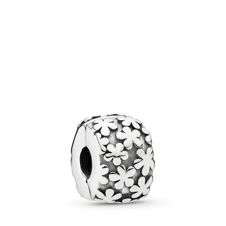 Flowers Clip, Sterling Silver Oxidised - PANDORA - #790533