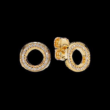 Sparkling Circle Stud Earrings