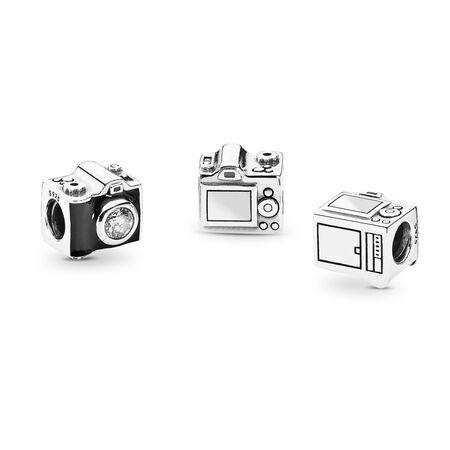 Sentimental Snapshots, Clear CZ & Black Enamel, Sterling silver, Enamel, Black, Cubic Zirconia - PANDORA - #791709CZ