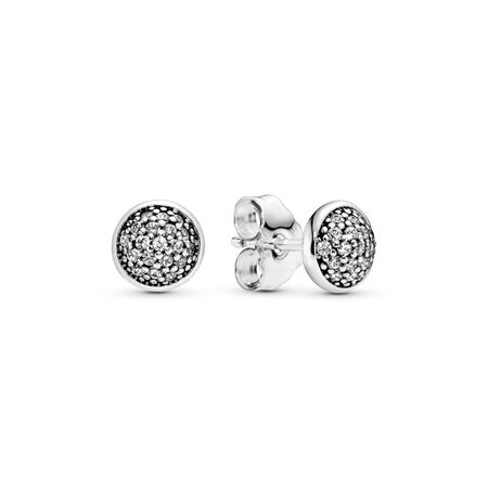 Dazzling Droplets, Clear CZ, Sterling silver, Cubic Zirconia - PANDORA - #290726CZ