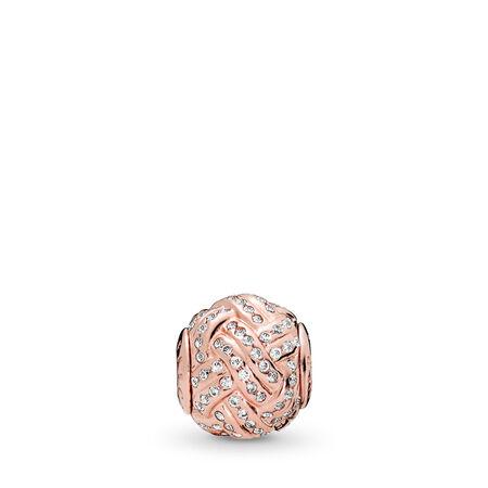 AIR D'AFFECTION, PANDORA RoseMC et cz incolore, PANDORA ROSE, Silicone, Aucune couleur, Zircon cubique - PANDORA - #786303CZ