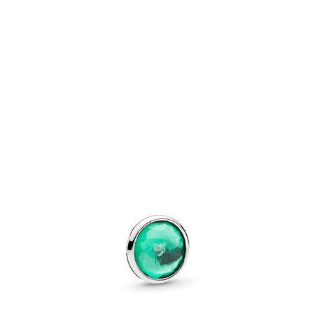 Mini gouttelette de mai, cristal vert royal, Argent sterling, Aucun autre matériel, Aucune couleur, Cristal - PANDORA - #792175NRG