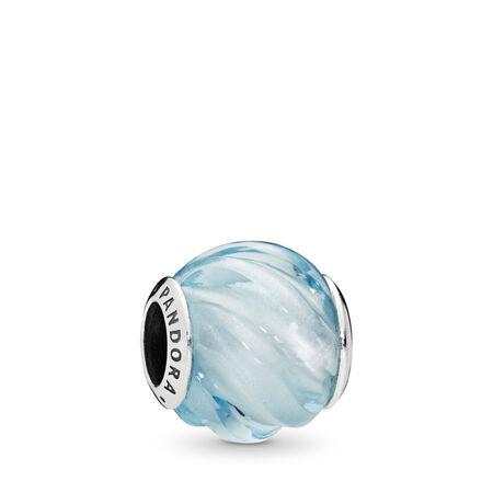 Charm Ondulations bleues, cristal bleu aqua