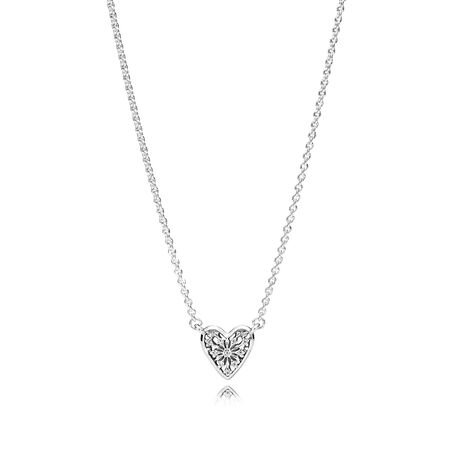 Heart of Winter Collier Necklace, Clear CZ
