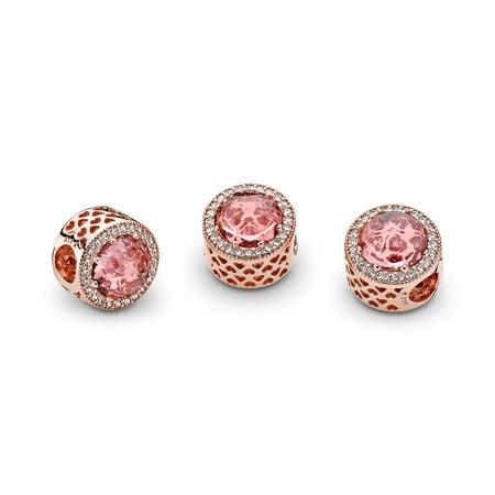 Cœurs radieux, PANDORA RoseMC et cristal rose blush