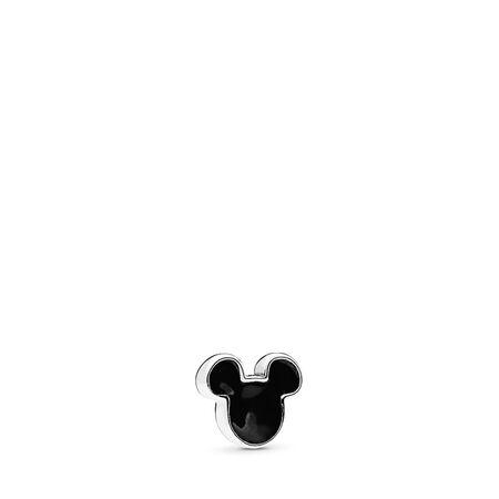 Disney, Mickey Icon Petite Charm, Black Enamel, Sterling silver, Enamel, Black - PANDORA - #796344EN16