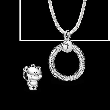 Ensemble de pendentif pour charms Pandora O et de Théo l'ourson