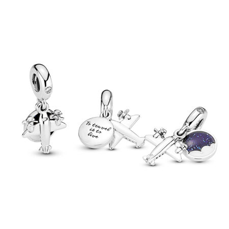 Propeller Airplane Dangle Charm
