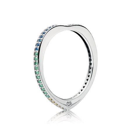 Limited Edition Arc of Love Ring, Multi-coloured CZ