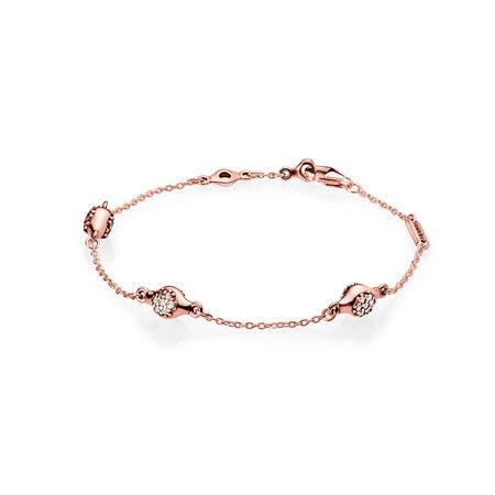 Modern LovePods™ PANDORA Rose™ Bracelet, Clear CZ