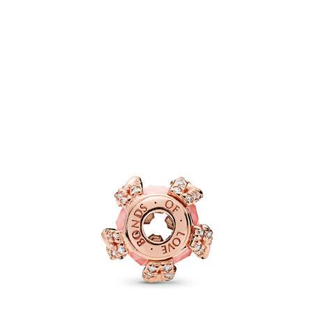 Charm ESSENCE LIENS D'AMOUR, PANDORA Rose, cristaux aux teintes rosées, cz incolore, PANDORA ROSE, Silicone, Rose, Pierres mélangées - PANDORA - #787279NBP