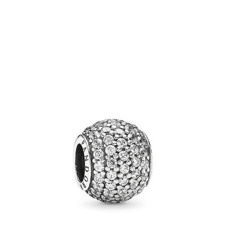 Pavé Lights, Clear CZ, Sterling silver, Cubic Zirconia - PANDORA - #791051CZ