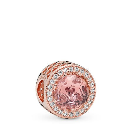 Radiant Hearts, PANDORA Rose™ &  Blush Pink Crystal, PANDORA Rose, Pink, Mixed stones - PANDORA - #781725NBP