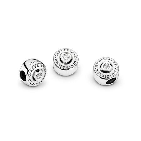 Girlfriend, Clear CZ, Sterling silver, Cubic Zirconia - PANDORA - #792145CZ