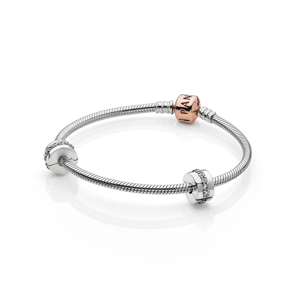 pandora with bracelet bracelets pa rose uk rgb en clasp moments anklet silver