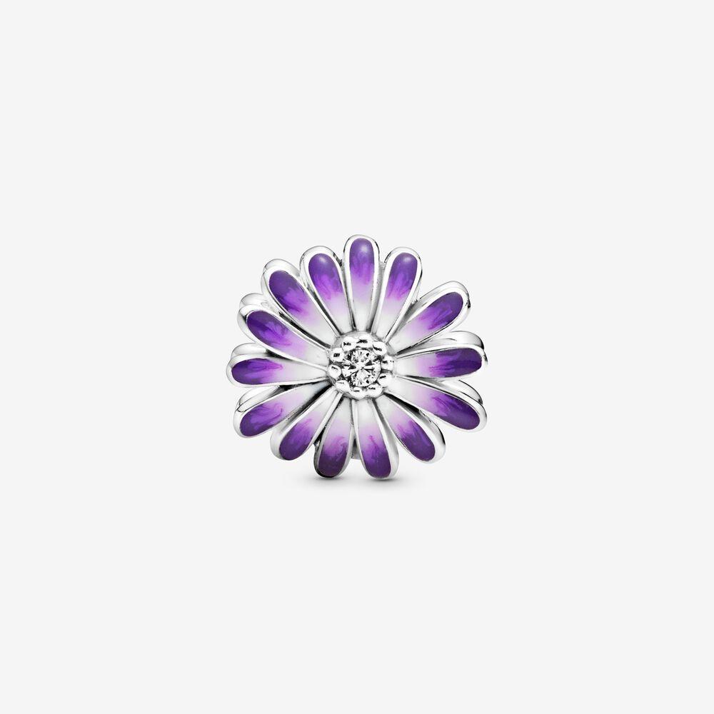 Purple Daisy Charm Sterling Silver Pandora Canada