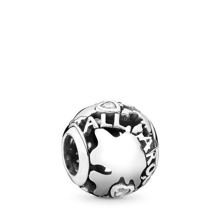 Around The World, Clear CZ, Sterling silver, Cubic Zirconia - PANDORA - #791718CZ