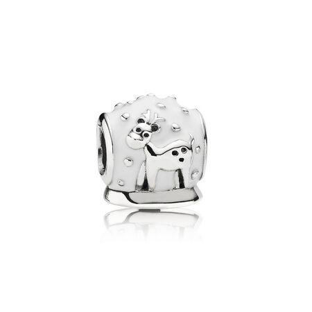 Globe de neige, émail blanc