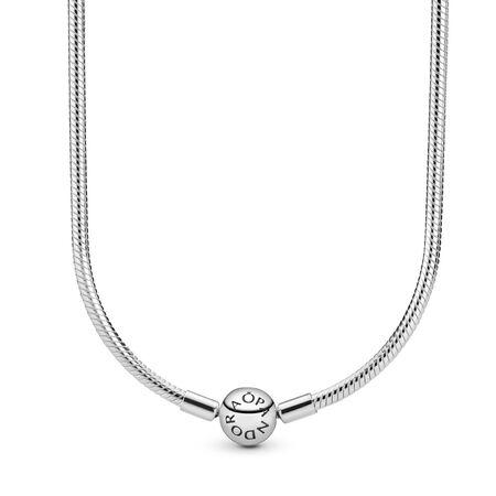 Silver Charm Necklace, Sterling silver - PANDORA - #590742HV