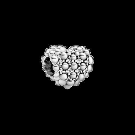 Charm perlé Cœur scintillant