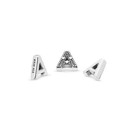 Mini Lettre A, Argent sterling, Aucun autre matériel, Aucune couleur, Aucune pierre - PANDORA - #797318