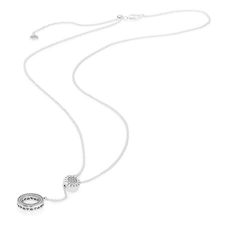 PANDORA Signature Necklace, Clear CZ